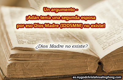 ¿Génesis 1:26-27 no indica Dios Madre de IDDSMM pero Lilit?