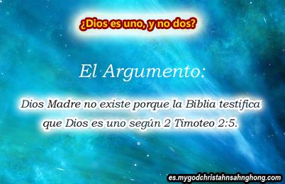"""No hay """"dos Dioses"""" ni Dios Madre como la IDDSMM insisten."""
