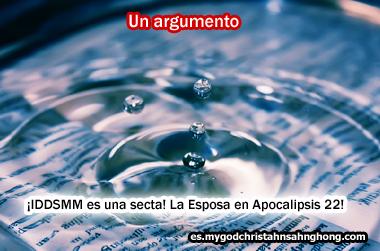 ≪IDDSMM es una secta – la Esposa no es Dios Madre pero los santos o la iglesia≫